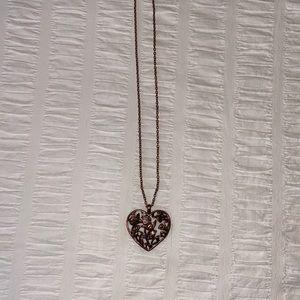 2/$20 🌷 Aldo brassy 3D bird heart necklace